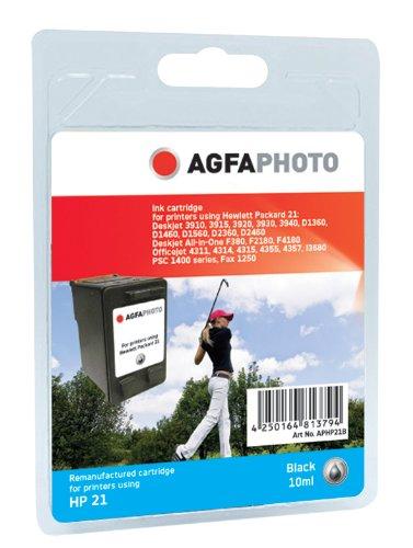 AgfaPhoto Tintenpatrone schwarz kompatibel zu HP21 (C9351AE) geeignet für HP Deskjet 3920/3940