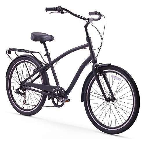 Sixthreezero-EVRYjourney-Mens-26-Inch-7-Speed-Sport-Hybrid-Cruiser-Bicycle-Matte-Black