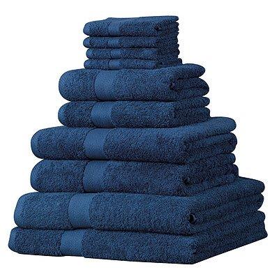 luxor-set-asciugamani-in-cotone-egiziano-100-10-pezzi-blu-navy