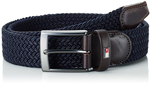 Tommy Hilfiger New Adan Belt, Cintura Uomo, Blu (Midnight 403), 100 cm