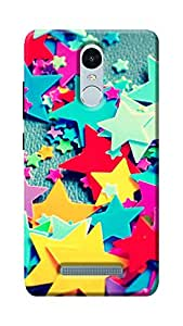 Unicraft Back Cover for Xiaomi Redmi Note 3 (3D Printed Multicolor)