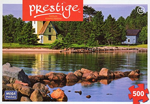 Morning Light Bette Grise Lighthouse - Prestige - 500 Pc Jigsaw Puzzle + Free Bonus 2015 Magnetic Calendar
