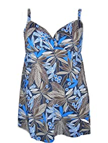 Penbrooke Plus Size Swimdress One Piece Swimsuit 18-24