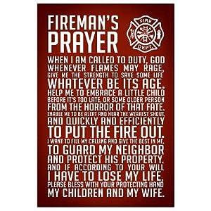 Amazon.com: (13x19) A Fireman's Prayer Art Print Poster: Firefighter