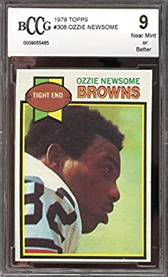 1979 topps #308 OZZIE NEWSOME cleveland browns rookie card BGS BCCG 9 Graded Card