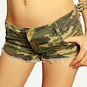 Hee Grand Femme Shorts Mini Cow-boy En Denim Chinois S Camouflage