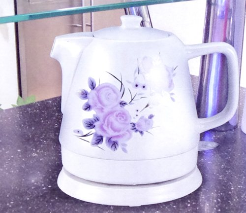 1 litre ceramic electric kettle - Flowers by iOSSS