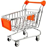 Imported Mini Shopping Cart Trolley Toy Orange