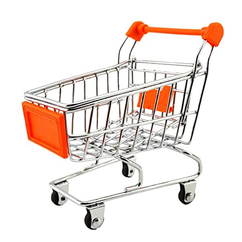 Imported Mini Shopping Cart Trolley Toy Orange
