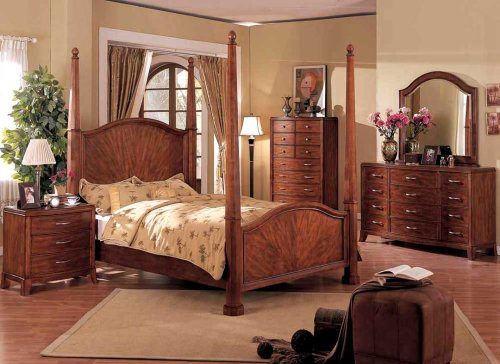 ... : 5pcs Traditional All Wood Bedroom Set, Item #F9114, EASTERN KING