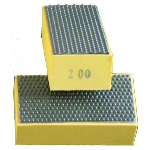 Lowest Price! diamond sanding blocks hand pads : Grit 200 (Glass, Marble, Stone, Granite, Concrete) ...