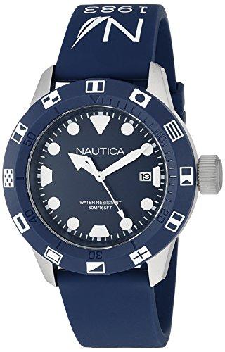 Nautica Unisex nad09511g NSR 100bandera analógico cuarzo azul reloj