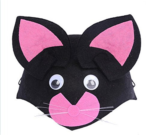 Lovely cartoon black cat hat for All Saints' Day