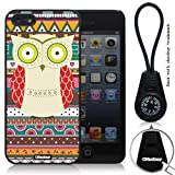 Iphone 5 Case Retro Style Owl Aztec Andes Tribal Pattern Iphone 5 Cases (Black Pc+pearlescent Aluminum) Ok-0101000308031601