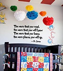 Bestal Dr Seuss the More That You Read Wall Art Vinyl Decals Letters Love Kids Bedroom Wall Sayings from Bestal