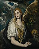 Oil Painting 'El Greco,The Penitent Magdalene,1580-1585', 16 x 20 inch / 41 x 50 cm , on High Definition HD canvas prints is for Gifts And Bath Room, Kids Room And Kitchen Decoration, diy