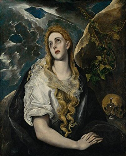 Oil Painting 'El Greco,The Penitent Magdalene,1580-1585', 10 x 12 inch / 25 x 31 cm , on High Definition HD canvas prints is for Gifts And Bath Room, Kids Room And Kitchen Decoration, buy (Marvel Studios 12 Inch Blade compare prices)