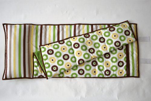 Mod Dots/Stripes Green/yellow/choco Nap Mat