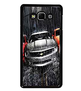PrintDhaba Car D-5507 Back Case Cover for SAMSUNG GALAXY A8 (Multi-Coloured)
