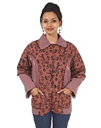Rajrang Traditional Cotton Animal Dark Brown Jacket