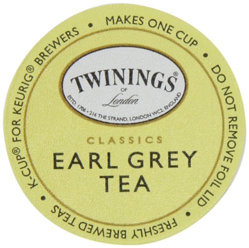 Twinings Earl Grey Tea, K-Cup Portion Pack for Keurig K-Cup Brewers, 12 Count (Pack of 6)