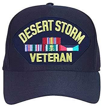 Amazon Com Desert Storm Veteran With Ribbons Ball Cap