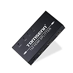 Tomsenn 2 Port Hdmi Splitter 1 in 2 Out Full 1080p & 3D (One Input to Two Outputs)