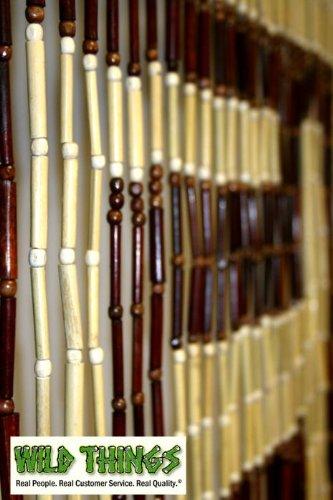 "Bead Curtain: Beaded Curtain : ""Pattern 8"" Wood Door Beads"