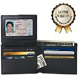 Amazon.com: RFID Blocking Wallet, Slim Genuine Leather, Bifold Wallets