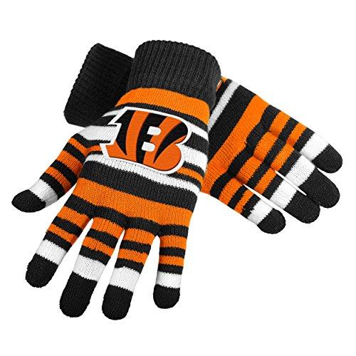 NFL Football Team Logo Stretch Gloves - Pick Team (Cincinnati Bengals) (Bengals Merchandise compare prices)