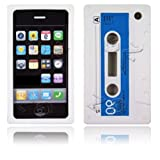 Cassette Retro Tape Cover for iPhone 3G 3GS Gel Silicone Stylish Case Skin White from gadget Zoo