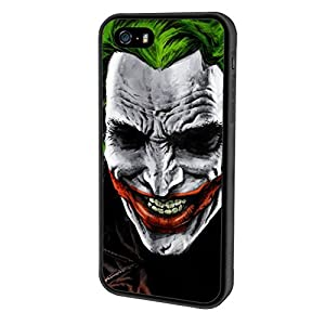 iPhone SE case, Onelee DC Batman Joker [Durable Anti-Slip] TPU Defensive Case Compatible with Apple iPhone 5SE / 5S / 5 (Black) at Gotham City Store