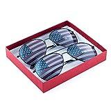 American Flag USA Classic Teardrop Metal Aviator Sunglasses (2-Pack (Gunmetal + Gunmetal) + GB1)