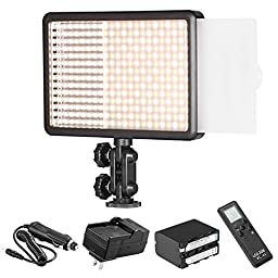 Bestlight Photo Studio LED308C 308PCS LED Ultra High Power Dimmable Video Light with 16CH Wireless Remote Control, including A 4IN1 Battery Wall & Car Charger and A Sony NP-F970 Replacement Battery