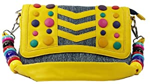 k13504 Mylux Women/Girl Candy Denim Clutch Bag