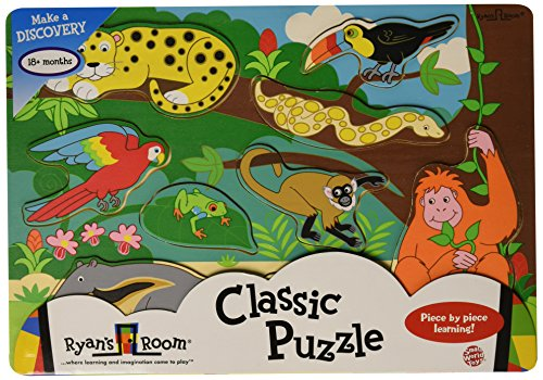 Small World Toys Ryan's Room Wooden Puzzle - Rainforest