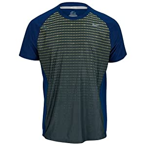 NIKE Men`s Advantage UV Graphic Tennis Crew Navy Large