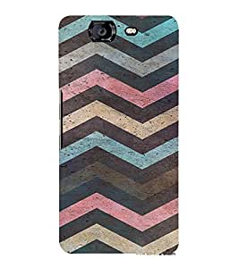 PrintVisa Colorful Chevron Pattern 3D Hard Polycarbonate Designer Back Case Cover for Micromax Knight A350
