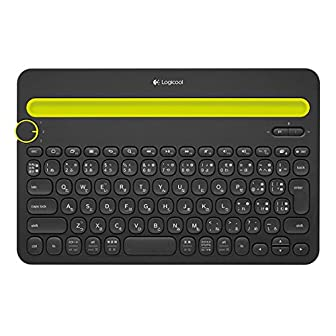LOGICOOL Bluetooth マルチデバイス キーボード ブラック k480