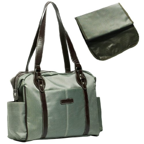 KF Baby SwaNk Diaper Bag, Army Green, with Changing Pad and kilofly Mini Gift-for-You Card