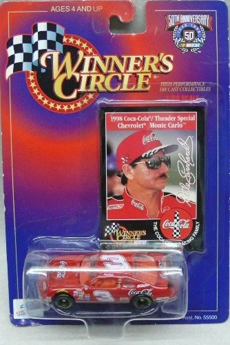 Winner's Circle - Dale Earnhardt - 1998 Coca-Cola/Thunder Special Chevrolet Monte Carlo - NASCAR 50th Anniversary - 1:64 Scale Die-cast Collectible - 1