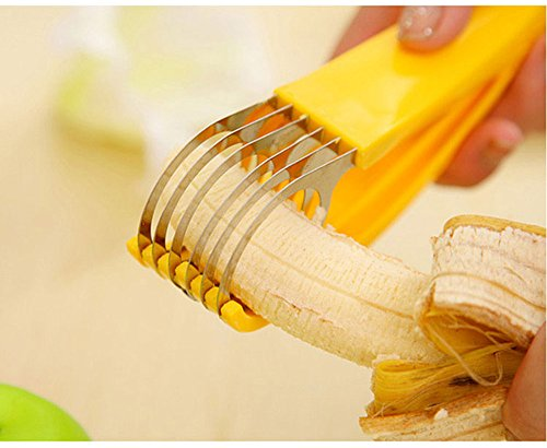 Free Shipping Stainless Steel Banana Slicer Fruit Cutter Cucumber Chopper Salad blade Ham sausage Slicer Home Kitchen Tool (Leatherman Knife Sharpener compare prices)