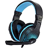 Noise Cancelling Professional Bass Gaming Headset For PC With Microphone Black Luminous