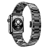 HOCO Apple Watch ステンレス バンド 薄型(2mm)&軽量(65g) 3コマタイプ/Slim-fit  Metal Apple Watchband(3Pointers) (42MM, GRAY)