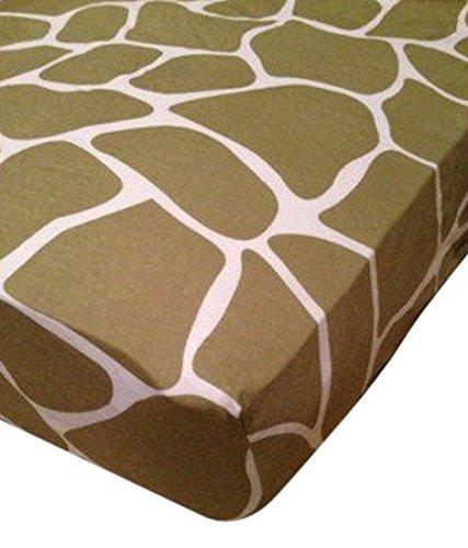 Babee Talk Organic Eco-Dreams Crib Sheet - Giraffe