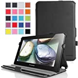 MoKo Slim-Fit Multi-angle Folio Cover Case For Lenovo Ideatab S6000 10.1-Inch Android Tablet BLACK