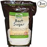 Now Foods Beet Sugar 3 lbs. (pack of 3)