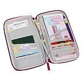 Sonline Organisateur de billet, de passeport, de carte, portefeuille/rouge vineux