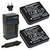 Wasabi Power Battery (2-Pack) And Charger For Panasonic Lumix CGA-S005 CGA-S005A CGA-S005A/1B CGA-S005E DMW-BCC12...
