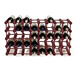 Modular 40 Bottle Pine Wine Rack -Mahogany